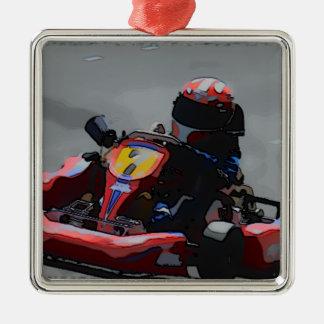 Kart Racing Cartoon Sketch Christmas Tree Ornaments