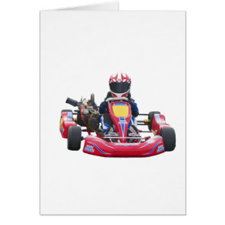Kart Racing Greeting Card