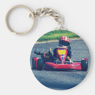 Kart Racing Key Ring