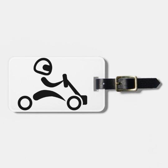 Kart racing luggage tag