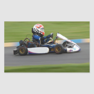 Kart Racing Rectangular Sticker