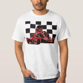 Kart Racing Red/Checkered Flag T Shirts