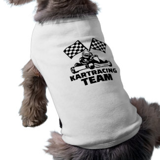 Kart racing team sleeveless dog shirt