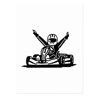 Kart winner postcard