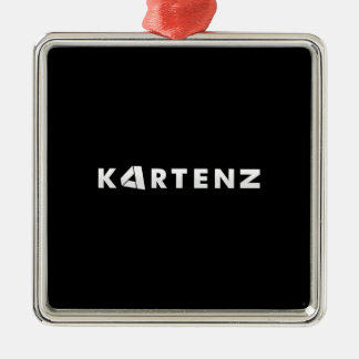KARTENZ Silver-Colored SQUARE DECORATION