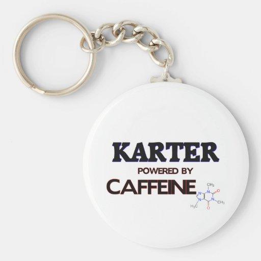 Karter powered by caffeine basic round button key ring