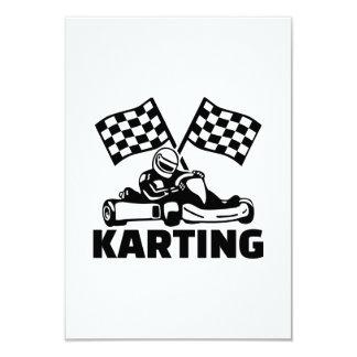 Karting 9 Cm X 13 Cm Invitation Card