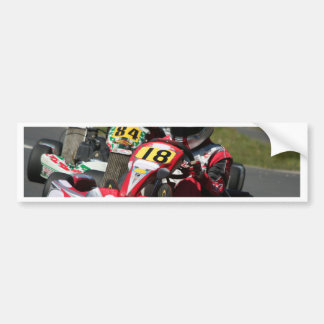 Karting karts minimax motor sport action racing bumper sticker