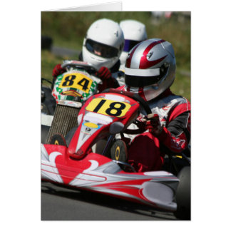 Karting karts minimax motor sport action racing card