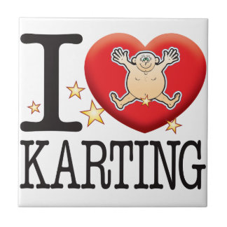 Karting Love Man Small Square Tile