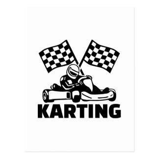 Karting Postcard