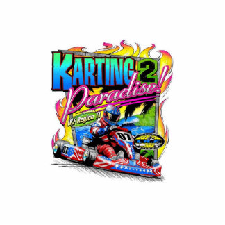 karting to paradise standing photo sculpture