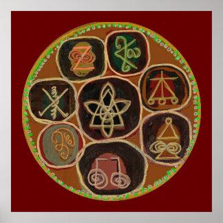 KARUNA Reiki Healing Symbols Apr 2011 Poster