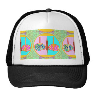 KARUNA Reiki : Kreeya Infinite Balancing Symbol Mesh Hats