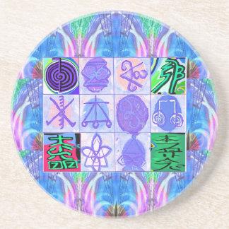 KARUNA Reiki Symbols : Artistic Rendering Beverage Coaster
