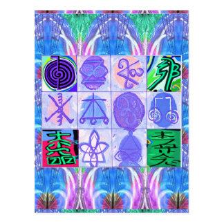 KARUNA Reiki Symbols : Artistic Rendering Postcard