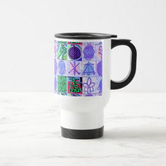KARUNA Reiki Symbols : Artistic Rendering Travel Mug