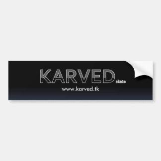 Karved Brand Skateboard Bumper/TAG sticker Bumper Sticker