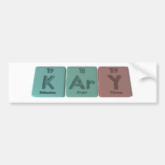 Kary as Potassium Argon Yttrium Bumper Sticker