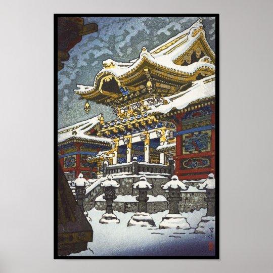 Kasamatsu Shiro Snow at Yomei Gate in Nikko