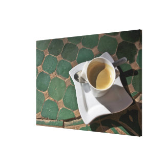 Kasbah Hotel and Restaurant coffee and green Stretched Canvas Print
