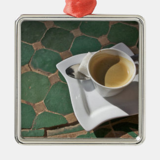 Kasbah Hotel and Restaurant, coffee and green Silver-Colored Square Decoration