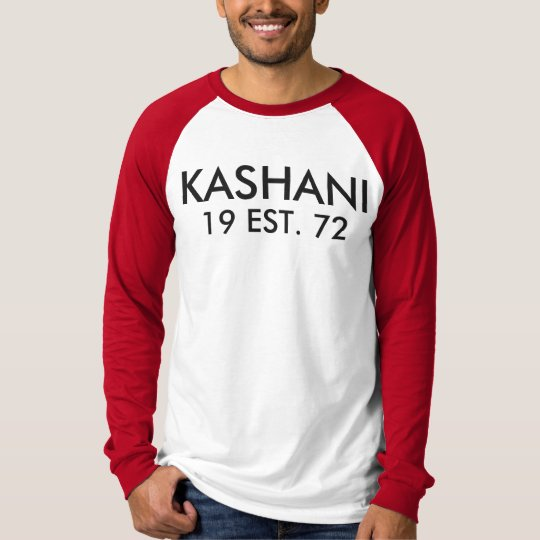 KASHANI Men's Canvas Long Sleeve Raglan T-Shirt