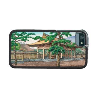 Kashiwara Shrine summer scenery Japanese hanga iPhone 5 Cases