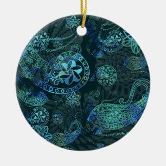 Kashmir - Deep Sea Round Ceramic Decoration