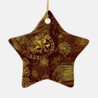Kashmir Mysteries Ceramic Star Decoration