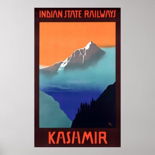 Kashmir Vintage Travel Poster