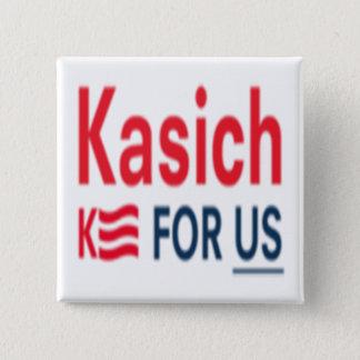Kasich for Us Logo 15 Cm Square Badge