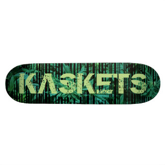 Kaskets Spray Art - KASKETS DECK #3 Ganja Barcode Skate Board Decks
