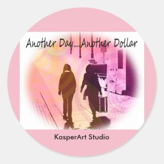 KasperArt Studio Stickers, Round Round Sticker