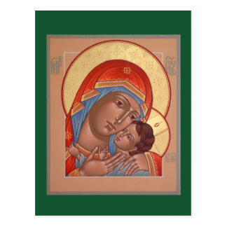 Kasperov Mother of God Prayer Card Postcard