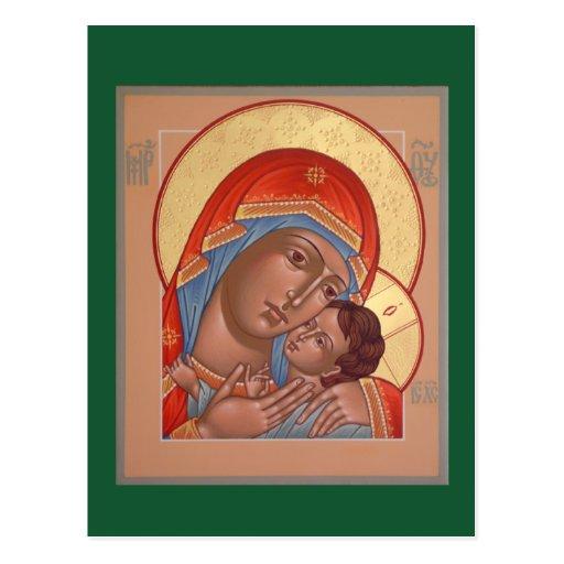 Kasperov Mother of God Prayer Card Postcard
