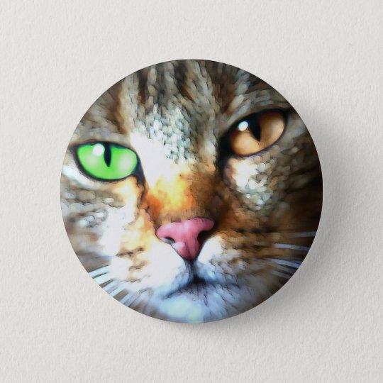Kat 6 Cm Round Badge