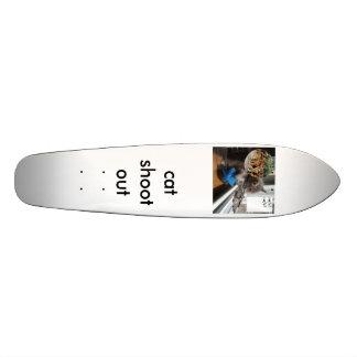 kat, cat shoot out 20.6 cm skateboard deck