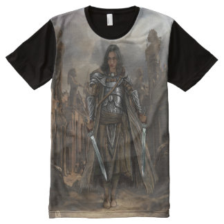 Kat in the ruins of an ancient city All-Over print T-Shirt