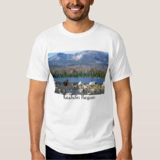 Katahdin Region Maine Moose T Shirt