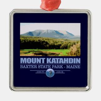 Katahdin Silver-Colored Square Decoration