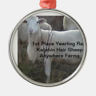 Katahin Hair Sheep Christmas Ornament