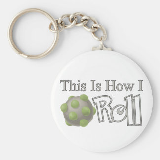 Katamari Roll Basic Round Button Key Ring
