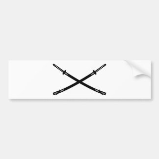 Katana Swords Bumper Sticker
