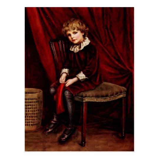 Kate Greenaway: The red boy Postcard