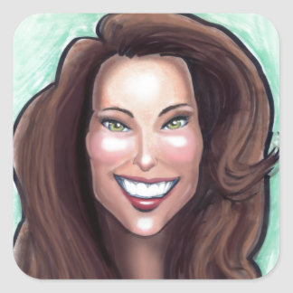Kate Middleton Caricature Square Sticker