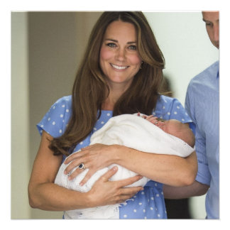 Kate Middleton Holding Newborn Son Personalized Announcement