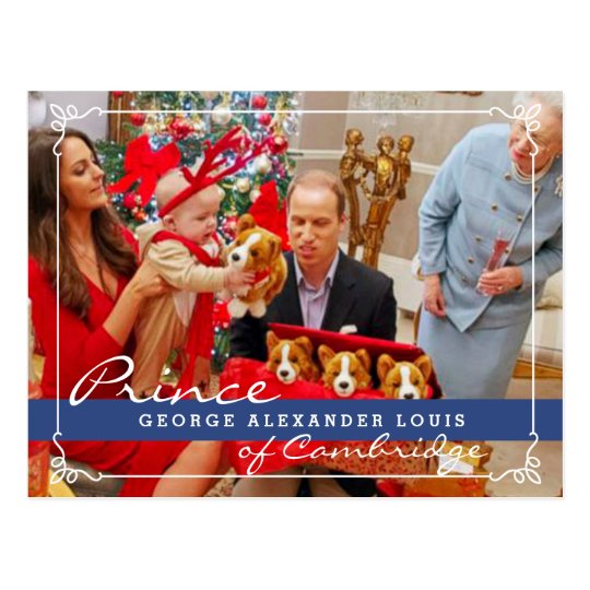 Kate Middleton Prince George Christmas Postcard