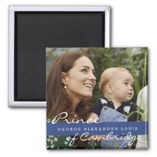 Kate Middleton Prince George Square Magnet