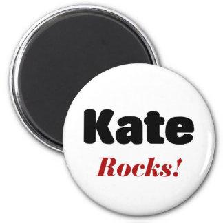 Kate rocks 6 cm round magnet